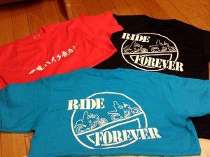 一生バイク乗りTシャツ